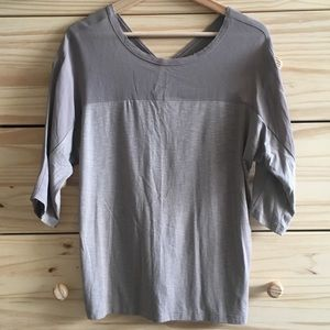Dolan for Anthropologie Grey 3/4-Sleeve Blouse Top